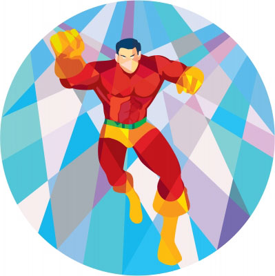 Superhero in vectors