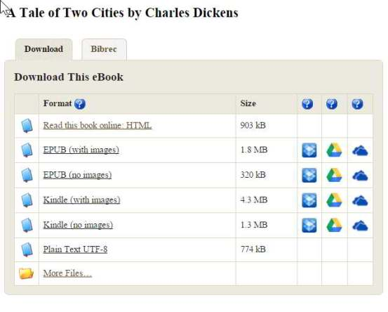 You can read a book in your web browser, save it to DropBox, Google Drive, or OneDrive, or download it to your device.