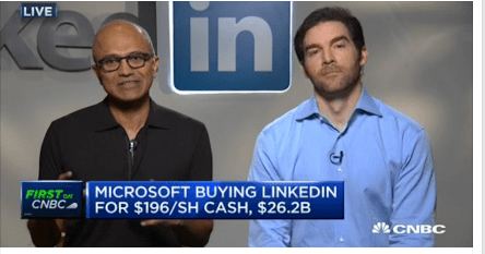 Joint announcement of Microsoft - LinkedIn merger