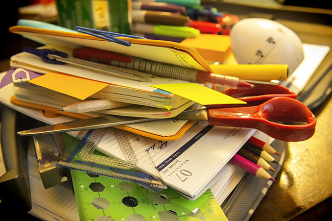 """Pile of planners and tools for building the """"perfect"""" paper planner."""