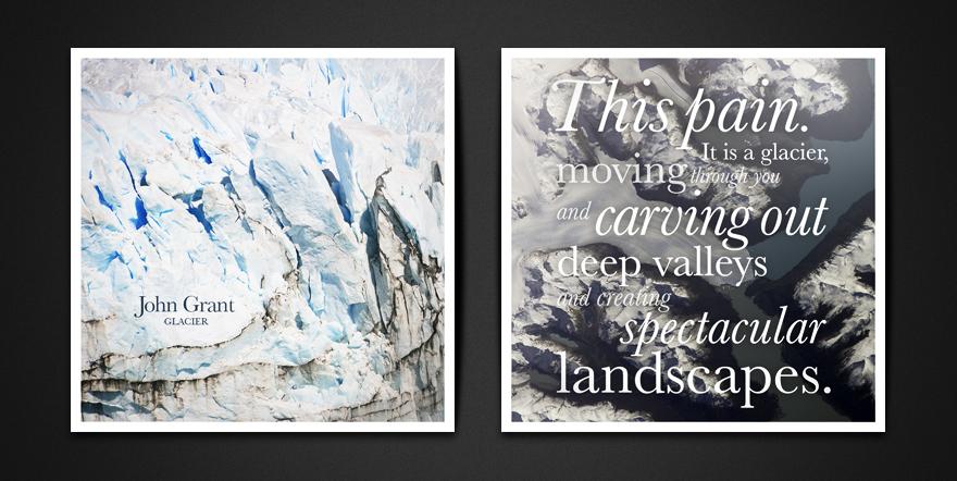 John Grant Glacier Sleeve Design