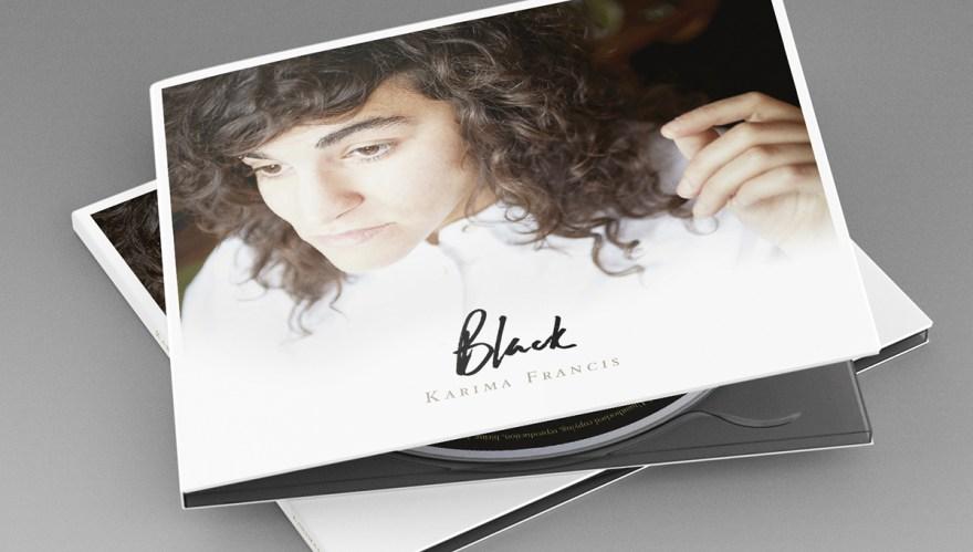 CD digiback album design for Karima Francis' Black - case