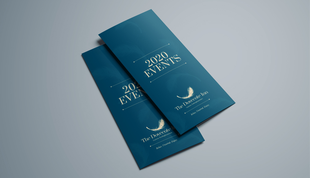 The Dovecote Inn Events Leaflet Design