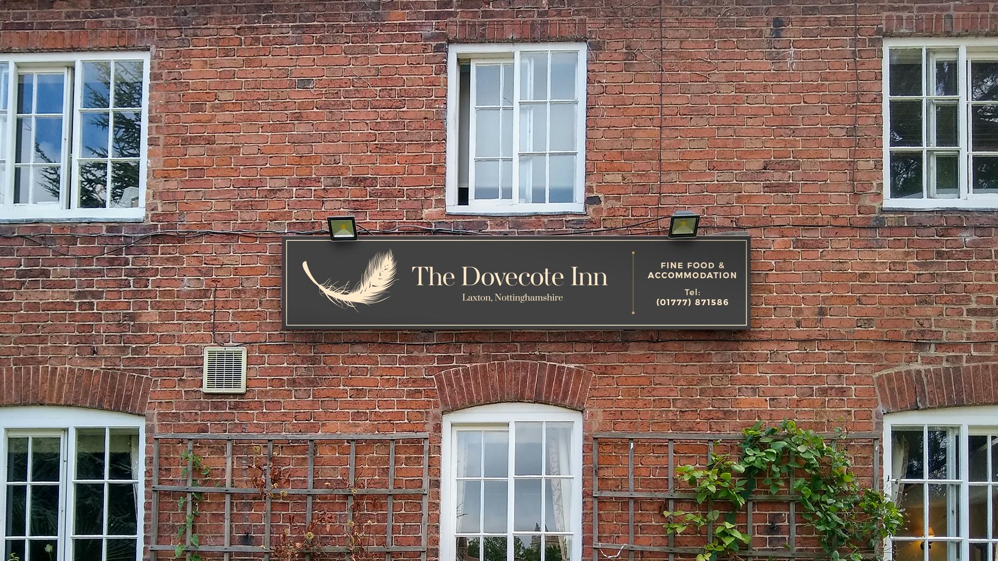 The Dovecote Inn Sign Design