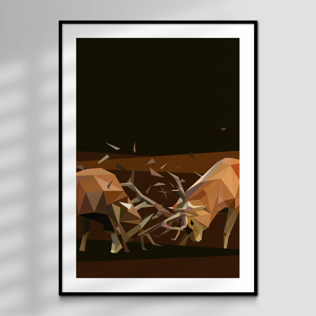 Rut Polygon Art Print for sale
