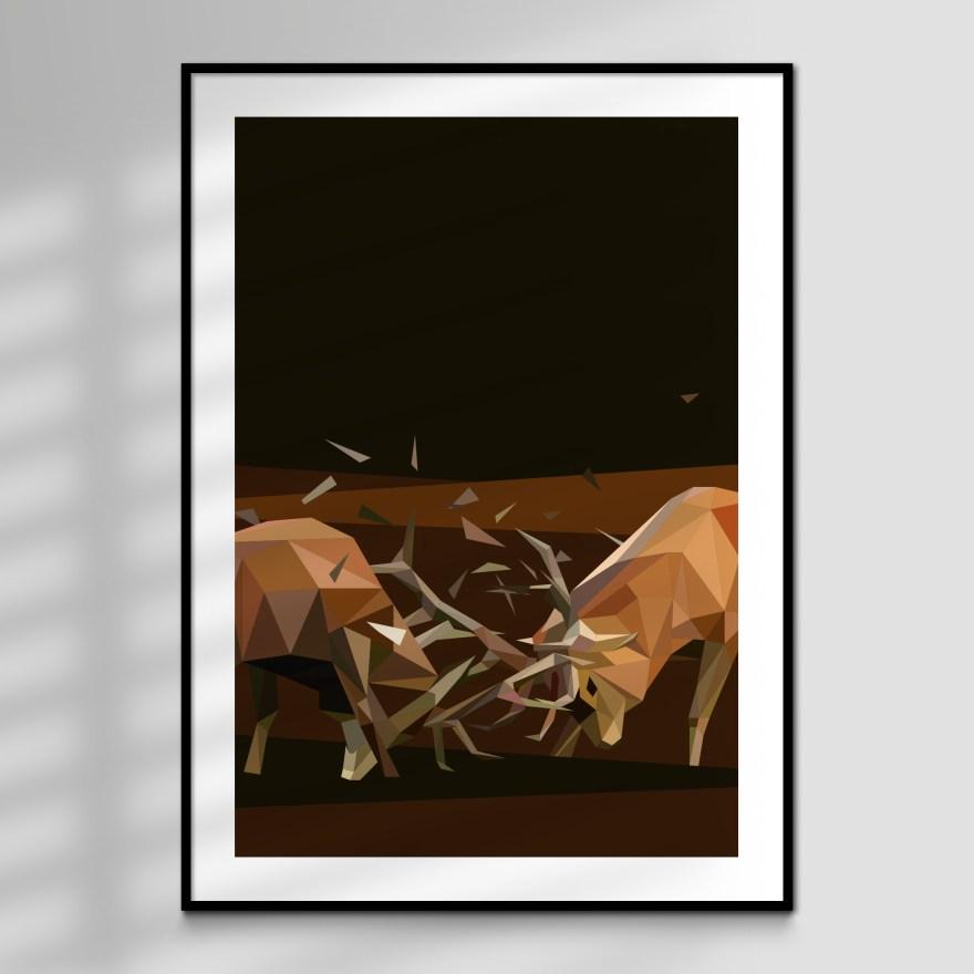 Rut Polygon Art Print for sale