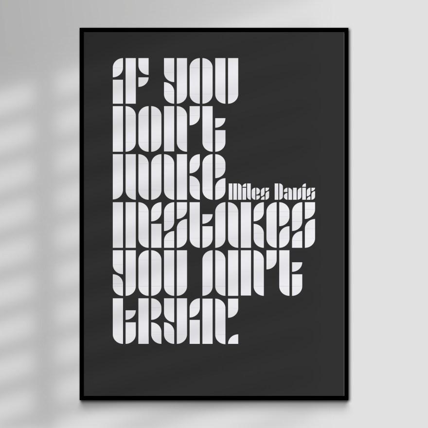 Miles Davis Quote Typographic Art Print