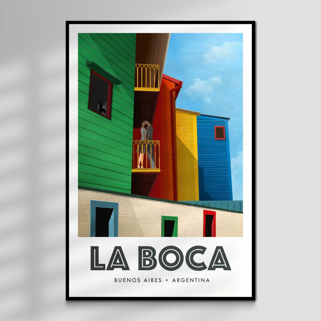 La Boca, Buenos Aires, Argentina Tourism Poster Print