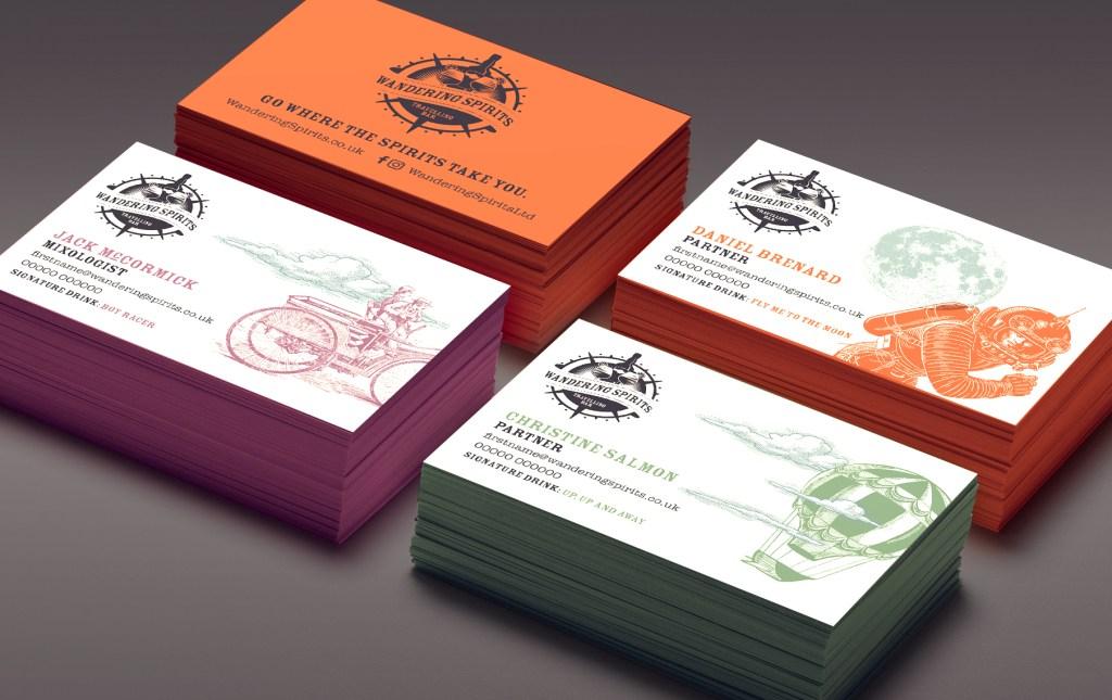 Wandering Spirits Business Card Design