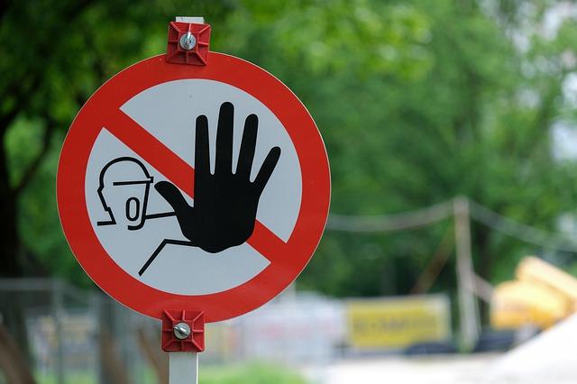 Warnschild Site Shield Barrier