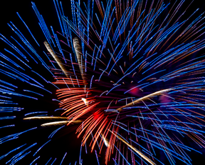Fourth of July abstract
