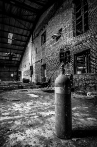 Abandoned warehouse photography