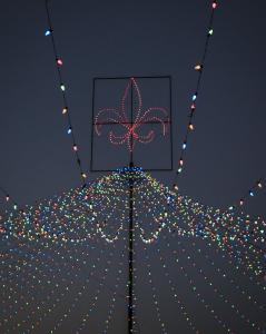Festival of Lights fleur de lis