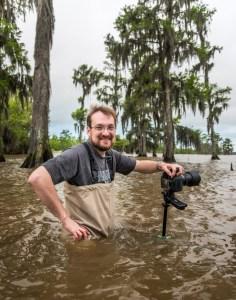 Tom Hamilton literally dove into his first trip to the Louisiana swamps.