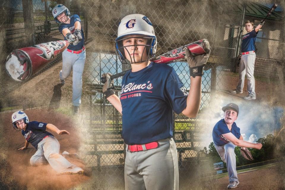 sports portrait collages