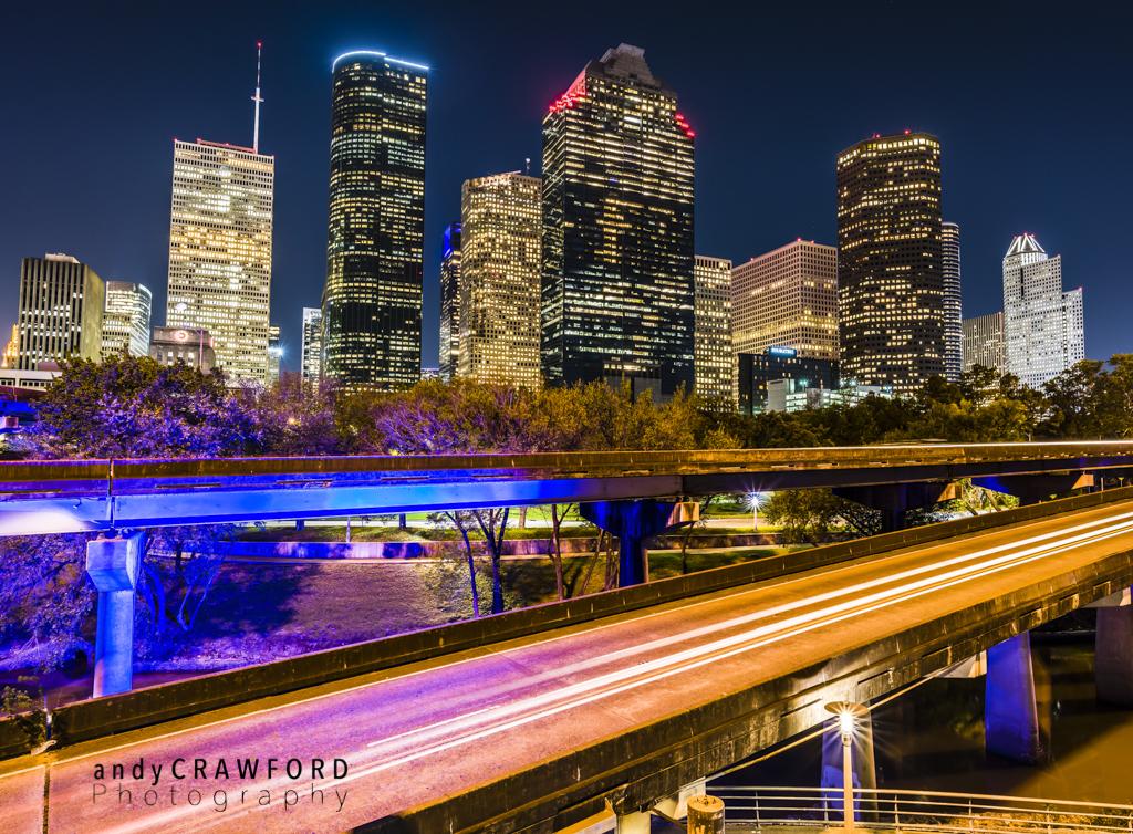 Houston downtown skyline photography