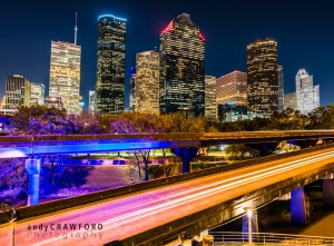 Houston downtown skyline photography