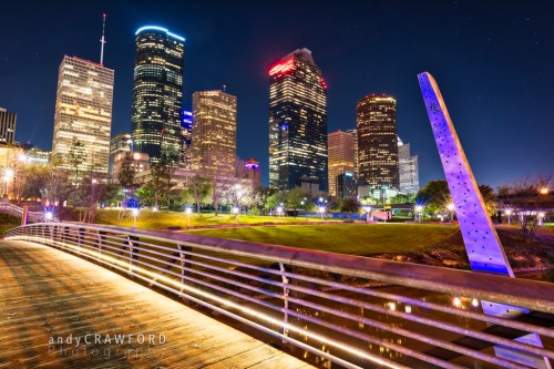 Houston Texas skyline photography