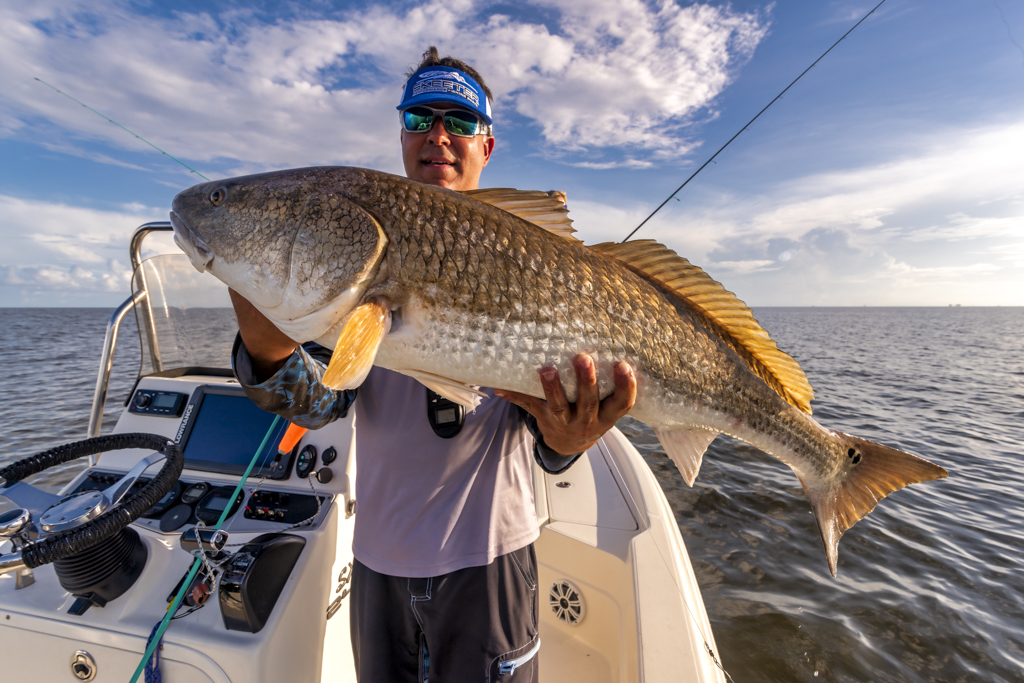 Buras Louisiana redfishing