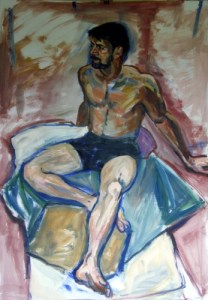Seated Figure 2 (Acrylic on paper)