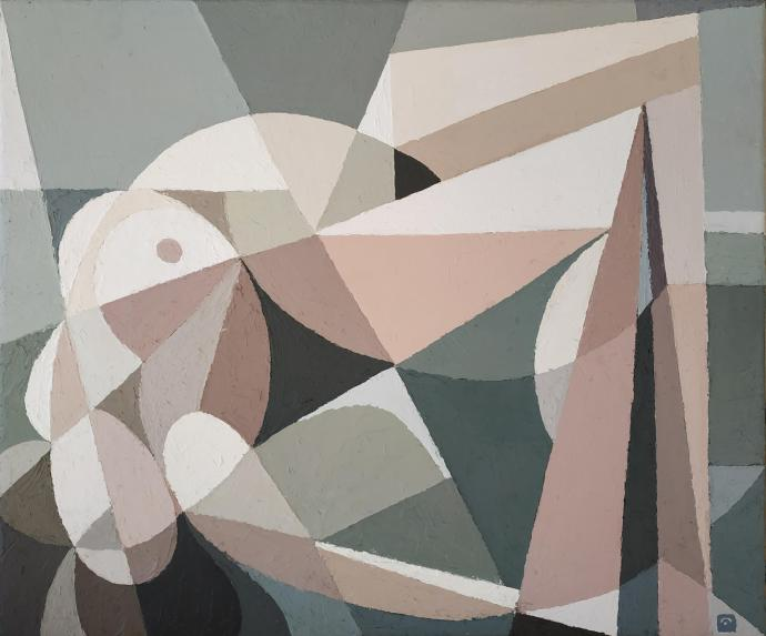 Reclining Nude VI (oil on canvas 50cm x 60cm)