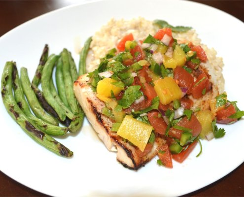 No Pots & Pans Grilled Mahi Mahi with Pineapple Salsa