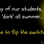 For many of our students, it's been dark (1)
