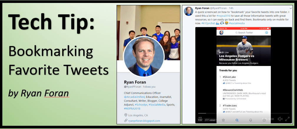 Tech Tip: Bookmarking Favorite Tweets
