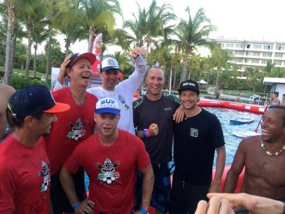 Team GB 3rd equal in the world SUP polo with Team Action-Barbados