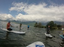 training on the water near Camping les Grangettes