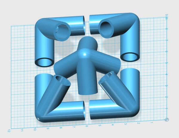 3d printing great giza pyramid connector kit