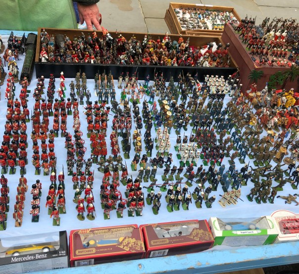 Lead toy soldiers/figures in Portobello road market, London, England