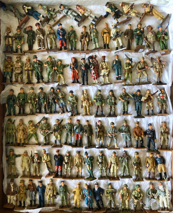 A selection of Del Prado WW1/2 figures available on request at stall 5, Portobello road, London, England.