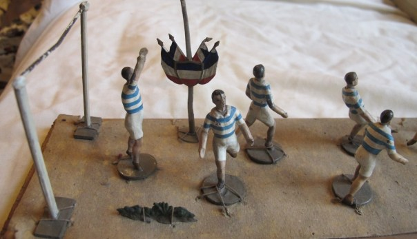 CBG Mignot. Made in France. Lead football figures. The closest I have come to a Queens Park Rangers team.
