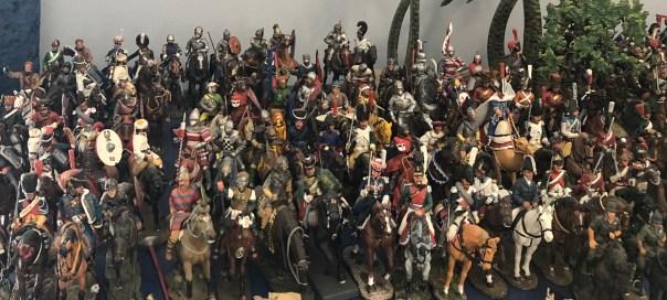 Lead soldiers. Del Prado cavalry at Stall 5, Portobello Road Market on Saturdays.
