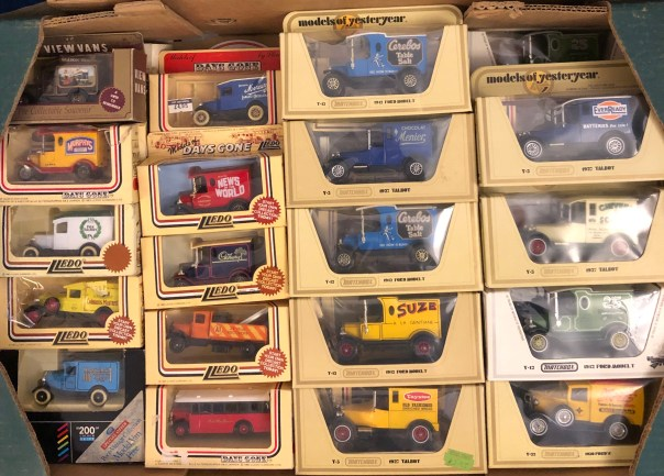 Lledo and Model of Yesteryear cars at stall 5, Portobello Road Market, London on Saturdays.