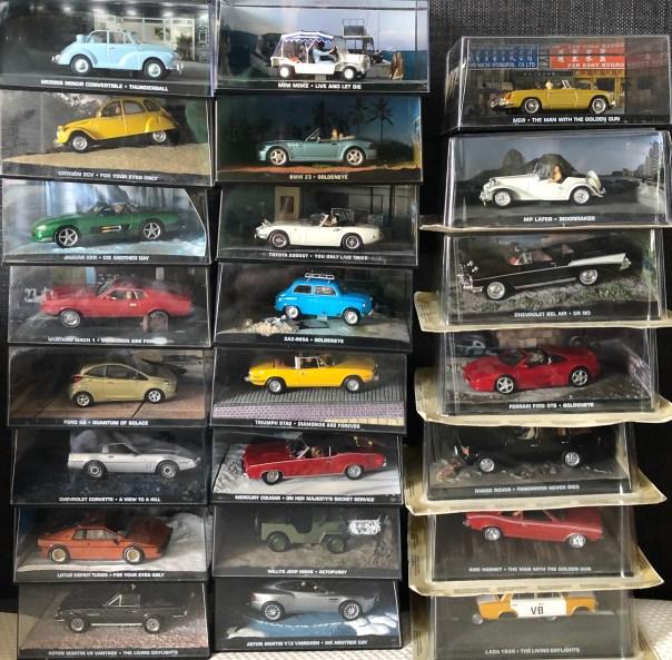 James Bond cars at Stall 5, Portobello Road Market, London on Saturdays.