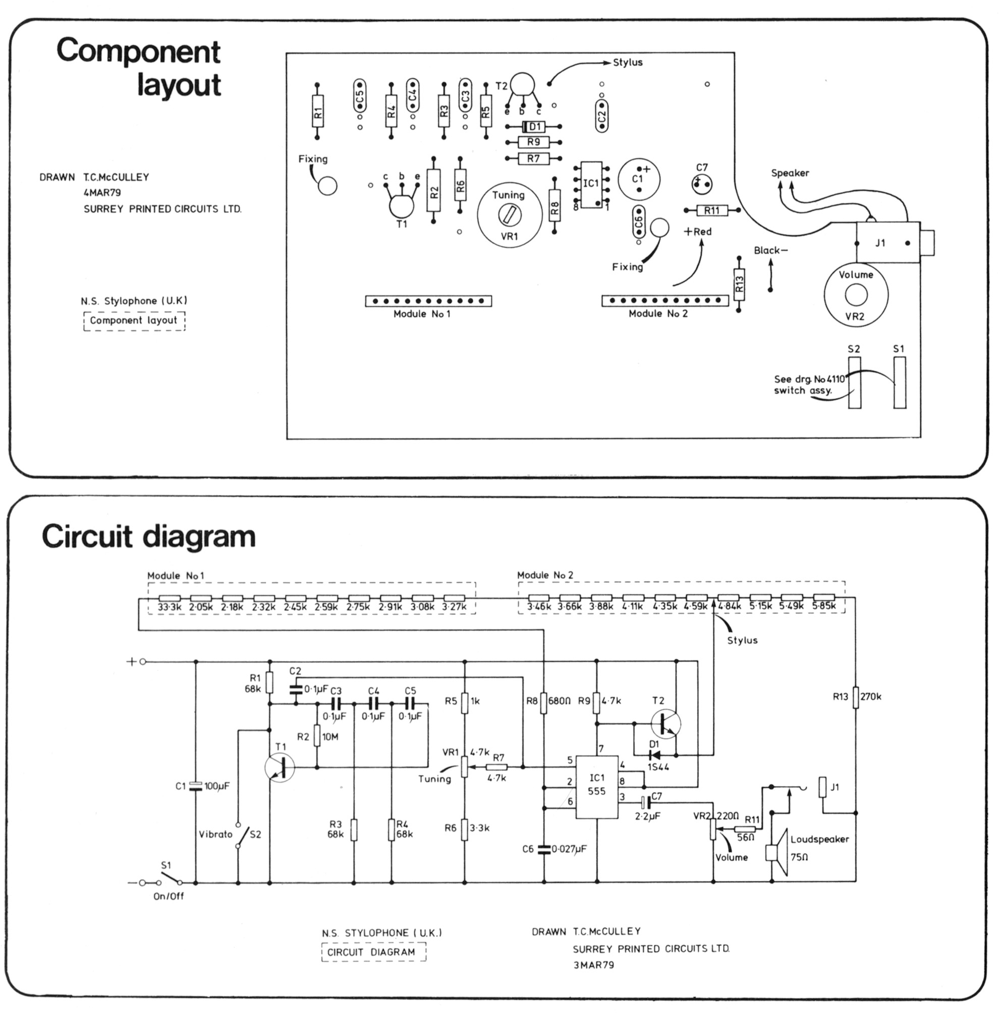 hight resolution of layout and circuit diagram