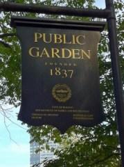 Boston Public Garden Sept 11 - 15