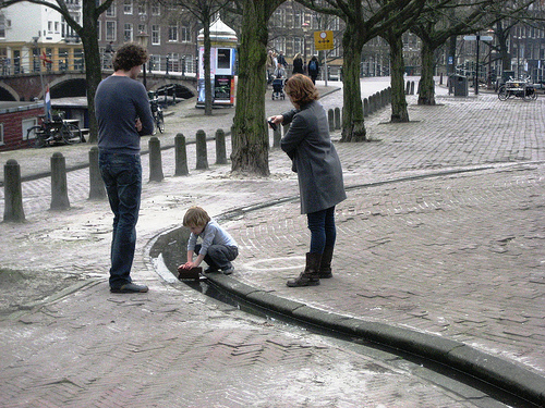 Playing with water in Amsterdam