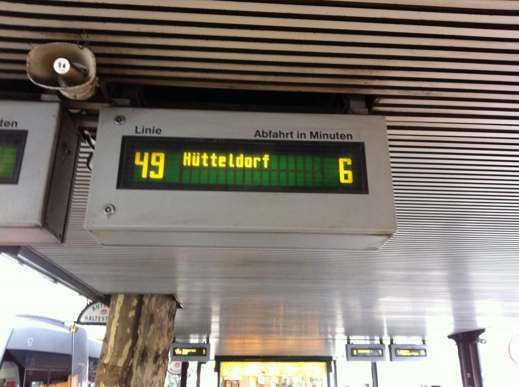 Tram 49 real time departure information at Dr Karl Renner Ring Station.