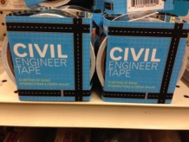 Civil Engineer tape available at Berkeley Ace Hardware.