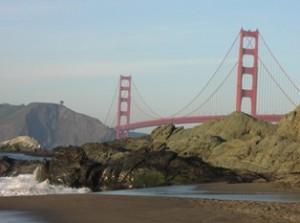 Golden Gate Bridge from Baker Beach (2004).