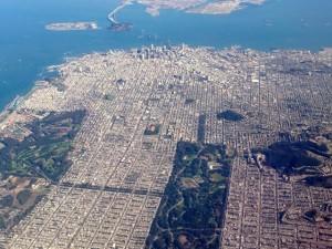 San Francisco aerial photo, October 2014.