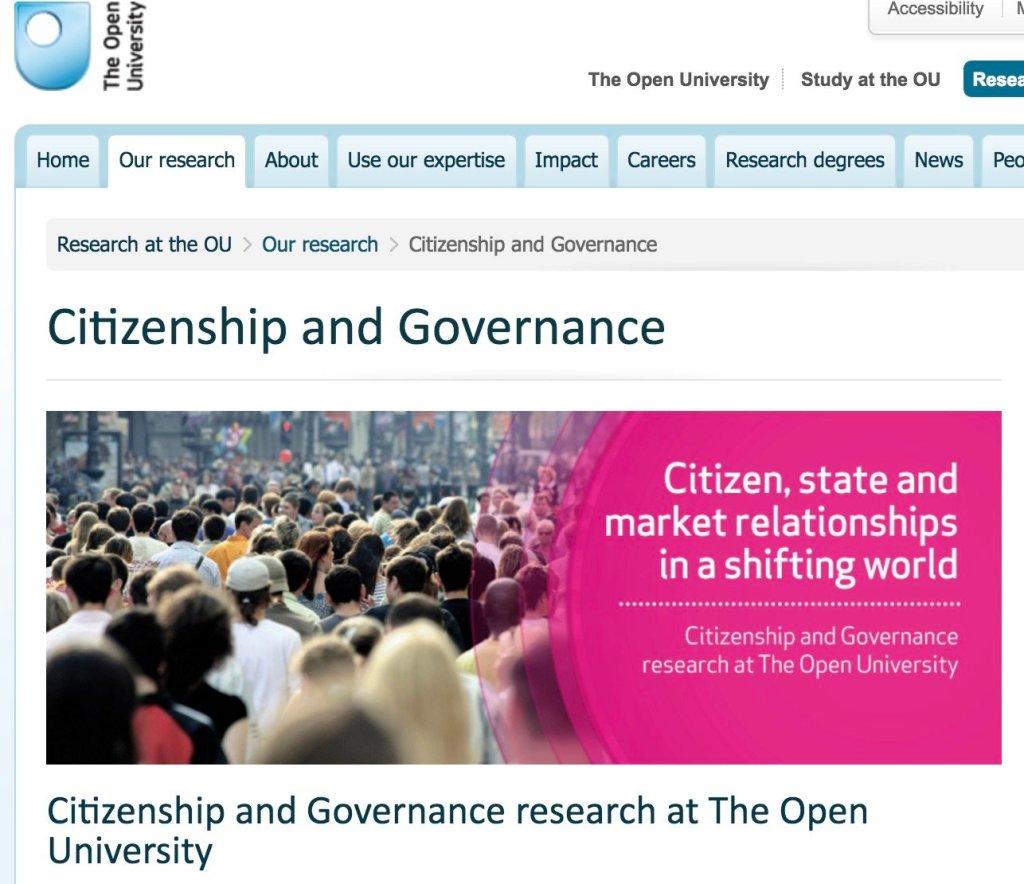 Screenshot of Open University website (2016).
