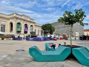 MQ Vienna courtyard summer 2021