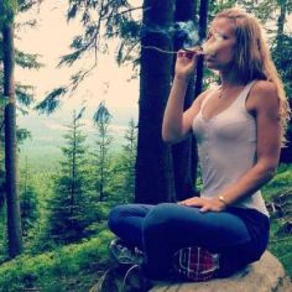 Smoking in the woods