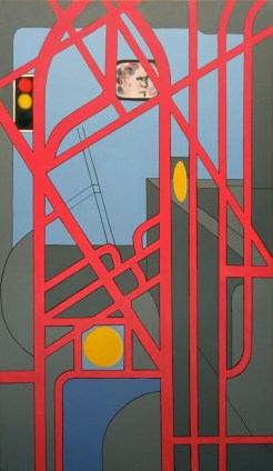 """Afternoon Bus - 62x36"""" - Acrylic on canvas"""
