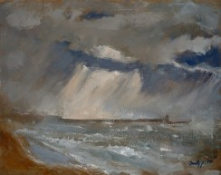 "Brighton Storm - 16x20"" - Oil on canvas"