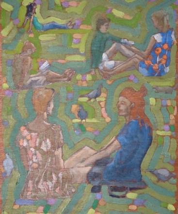 """Flower Dress - 10x12"""" - Oil on panel"""